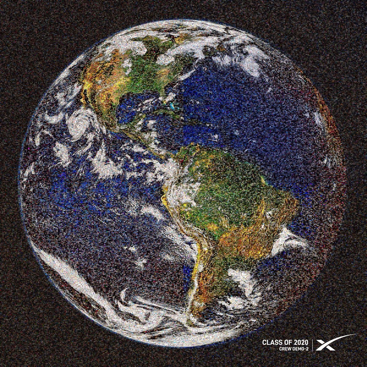 mosaic of earth made of 2020 graduate photos